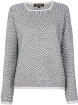 Loro Piana herringbone sweater - women - Silk/Cashmere - 40