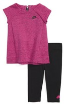 Nike Infant Girl's Tech Pack Cap Sleeve Tee & Leggings Set