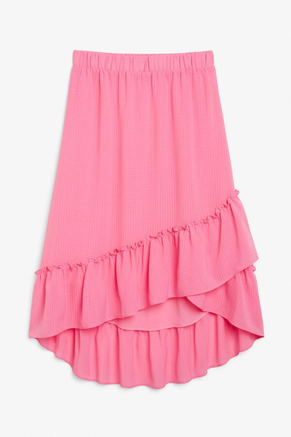 Monki Sheer midi skirt