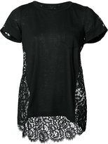 Sacai floral lace T-shirt - women - Cotton/Linen/Flax/Nylon/Rayon - 1