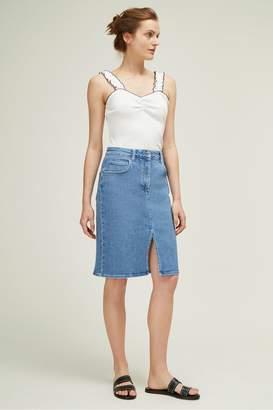 Great Plains Rye Summer Denim Midi Skirt