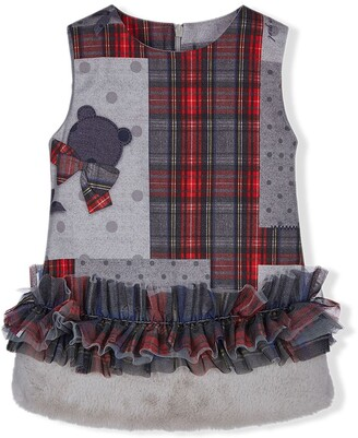 Lapin House Check Tartan Dress