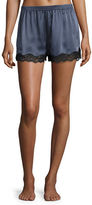 Neiman Marcus Lace-Trimmed Silk Lounge Shorts