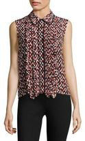 Marni Sleeveless Ruffle Blouse