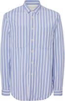 Jil Sander Striped Cotton-Poplin Dress Shirt