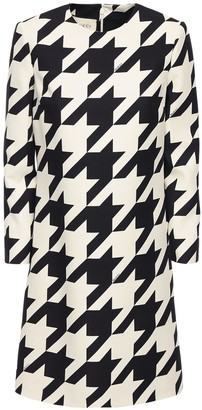 Gucci Printed Silk & Wool Cady Dress
