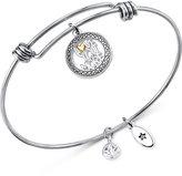 Unwritten Silver-Tone Love Adjustable Bangle Bracelet