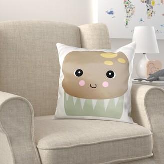 Zoomie Kids Brittain Cute Kawaii Muffin Pillow Cover