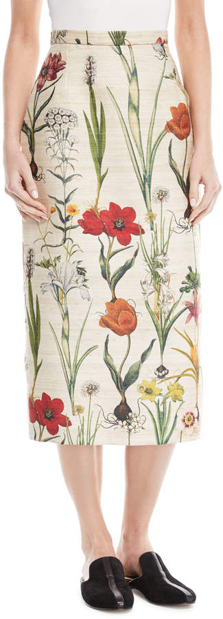 Oscar de la Renta Enchanted Forest Midi Skirt