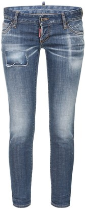 DSQUARED2 Pat Low Waist Stretch Denim Skinny Jeans