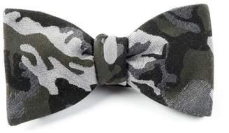 The Tie BarThe Tie Bar Dark Green Camouflage Wool Bow Tie