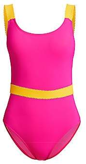 Karla Colletto Swim Women's Giselle Belted One-Piece Swimsuit