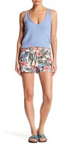 Jolt Floral Print Linen Blend Short (Juniors)