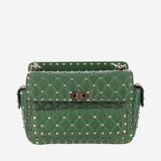 Valentino Rockstud Spike Quilted Shoulder Bag