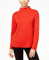 Eileen Fisher Merino Wool Reversible Funnel-Neck Sweater, Regular & Petite