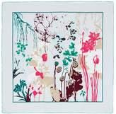 SHANG XIA '4 Plants' print silk scarf