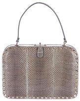 Valentino Snakeskin Rockstud Frame Bag