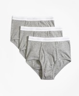 Brooks Brothers Three-Pack Cotton Briefs