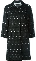 Moschino dotted print coat - women - Cotton/Polyester/Acetate/Rayon - 40