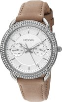 Fossil Women's Quartz Stainless Steel and Leather Automatic Watch, Color:Brown (Model: ES4053)