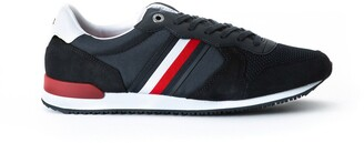 Tommy Hilfiger Iconic Material Mix Runner Trainers in Suede