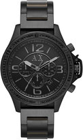 Armani Exchange A|X Men's Chronograph Black Ion-Plated Stainless Steel Bracelet Watch 48mm AX1520