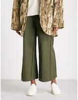 Collina Strada Box wide-leg cropped cotton-twill trousers
