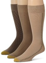 Gold Toe Gold-Toe Three Pack Mens Extended Size Fashion Socks