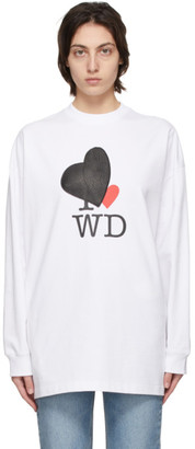 we11done White Heart Patch Long Sleeve T-Shirt