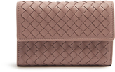 Bottega Veneta Tri-fold intrecciato leather wallet