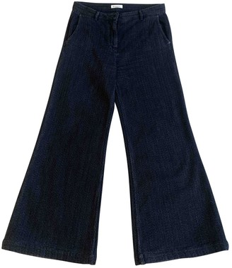 Masscob Navy Cotton Trousers for Women