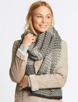 Marks and Spencer Textured Sparkle Scarf