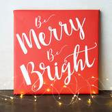 """Cathy's Concepts Cathys Concepts Merry & Bright"""" Canvas Wall Art"""
