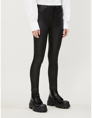 Noisy May Kimmy mid-rise skinny faux-leather trousers