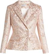 Osman Mona leaf-brocade double-breasted jacket