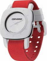 Converse VR021650 1908 Regular Square White Analog Dial and Red Canvas Pull Through Strap Watch