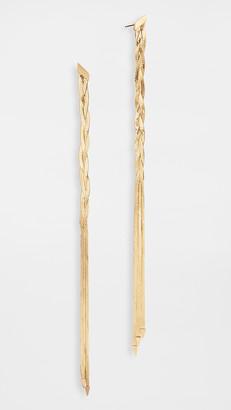 Lana 14k Liquid Gold Linear Earrings