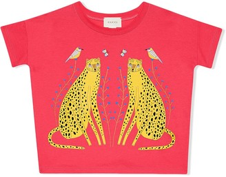 Gucci Kids cheetah-print T-shirt