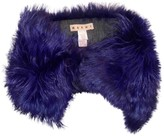 Marni Purple Fur Scarves