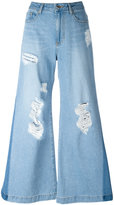 Sjyp distressed flared jeans - women - Cotton - S