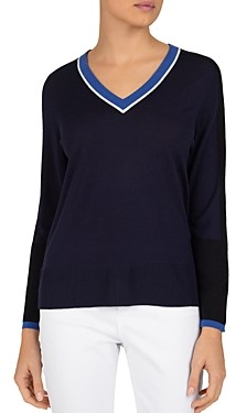 Gerard Darel Evangelina V-Neck Wool Pullover Sweater