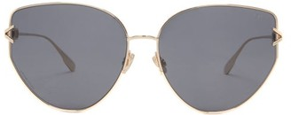 Christian Dior Diorgypsy1 Cat-eye Metal Sunglasses - Black