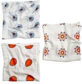 Baby Essentials aden + anais Orange Print Silky Soft Swaddle Blankets (Set of 3)