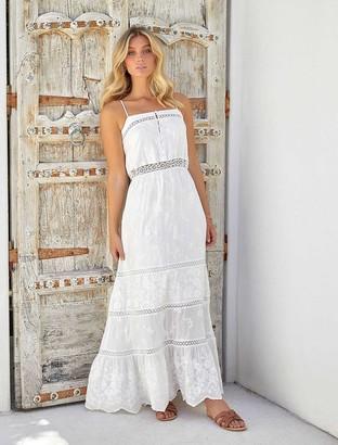 Forever New Rosie Lace Midi Dress - Porcelain - 10
