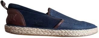 Louis Vuitton Navy Leather Espadrilles