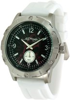 Ed Hardy Men's Matrix MX-WH White Silicone Quartz Watch with Dial
