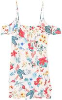 MANGO Floral Ruffled Dress