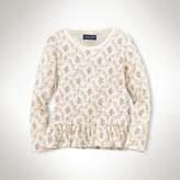 Long-Sleeved Floral Top