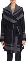 Vince Camuto Novelty Knit Wrap Coat