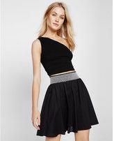 Express smocked waist mini skirt